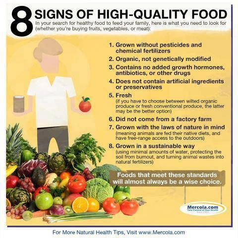 8 ways to select quality food