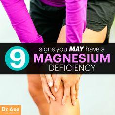 Magnesium deficiency signs